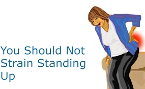 we should not strain standing up