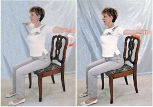 Sitting arm circles ecise